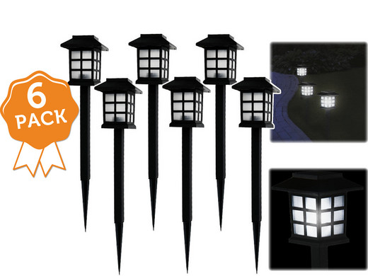 6er pack solar led gartenlampen internet 39 s best online offer daily. Black Bedroom Furniture Sets. Home Design Ideas