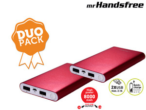 2 Mr. Handsfree 8000 mAh Portable Power Chargers