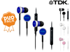 2x TDK IP400 In-Ear Headphones
