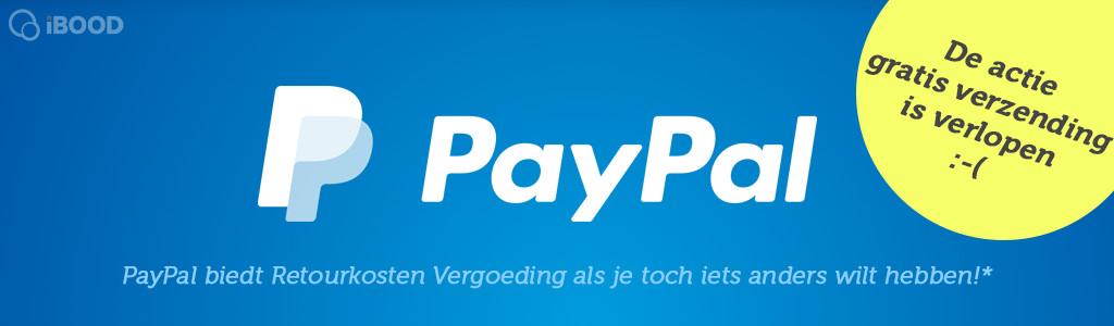 Gratis verzending met PayPal!
