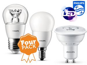 4er-Pack Philips LED-Leuchtmittel