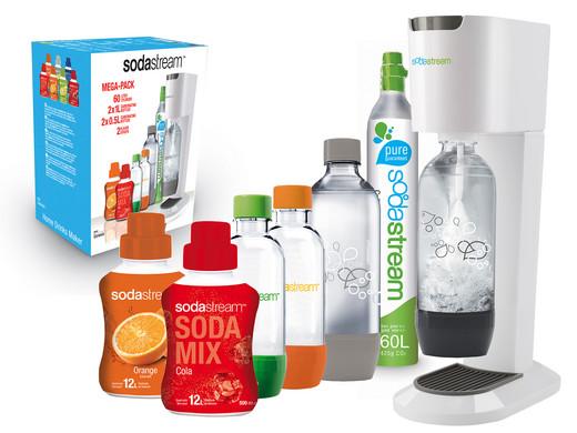 Sodastream Genesis Megapack - Maak je eigen Bruiswater en Frisdrank - Met de Sodastream maak je van gewoon (kraan)water met één druk op de knop bruisend water of gezonde frisdrank.