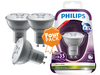 4x Philips dimbare LED spots